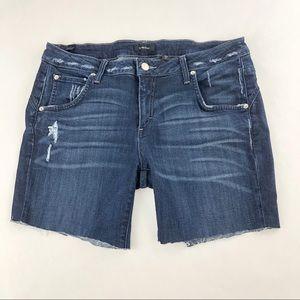 My BeBe Blue Jean Custom Cut Off Shorts